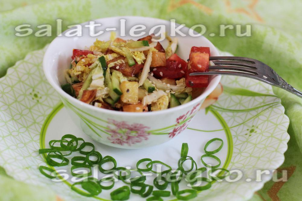 рецепты салатов из фри