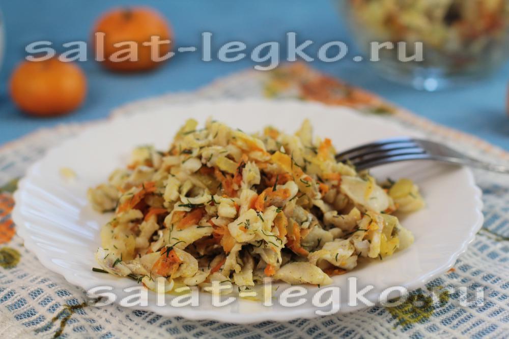 Салат с жареным беконом рецепт 84