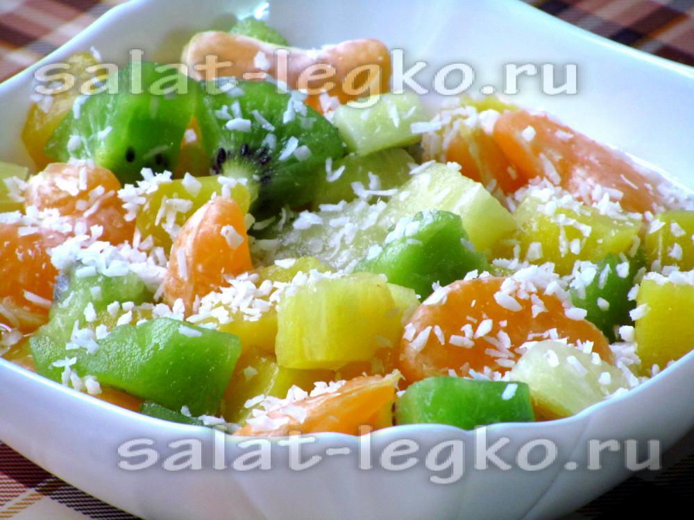 Салат фруктовый на день рождения рецепт с