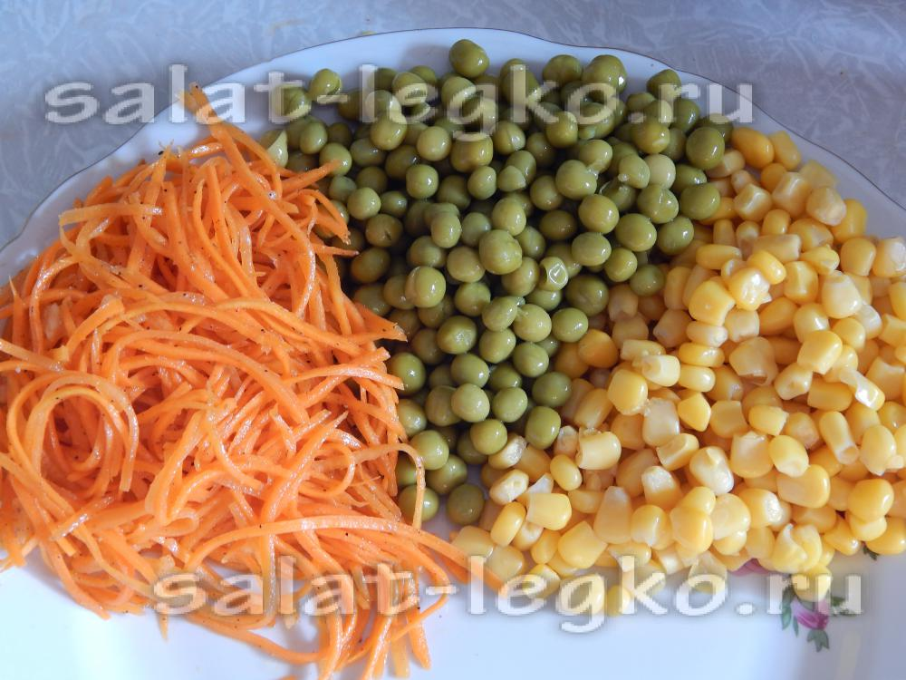 рецепты салата козел в огороде с чипсами