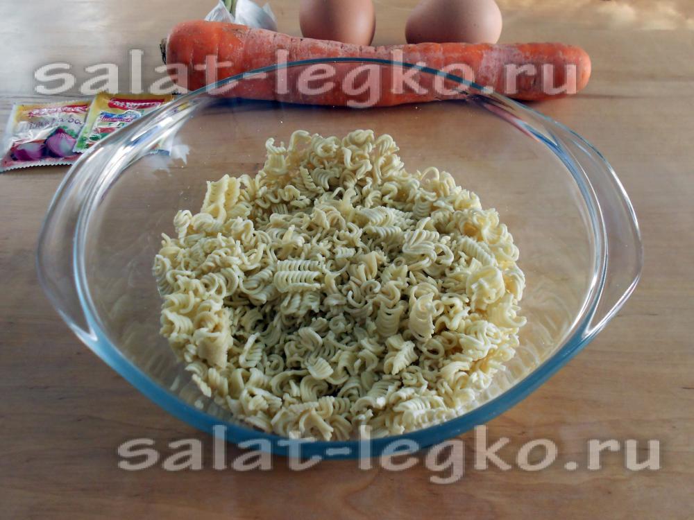 рецепты блюд из вермишели быстрого приготовления