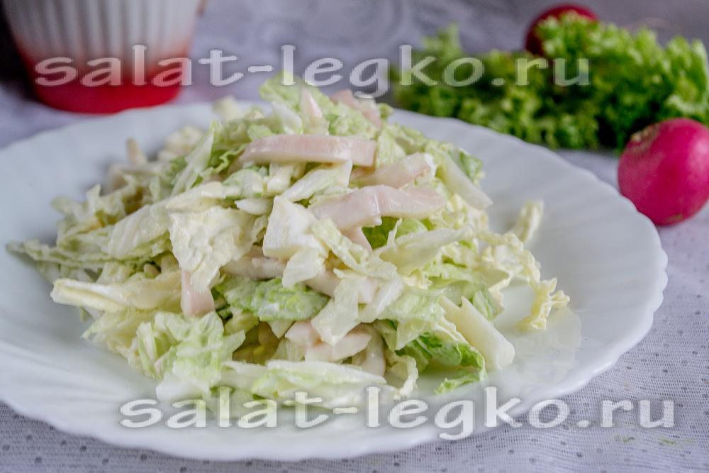 очень вкусный салат с пекинской капустой рецепт