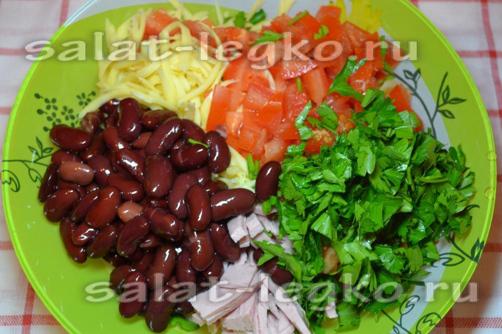Салаты из фасоли красной рецепты
