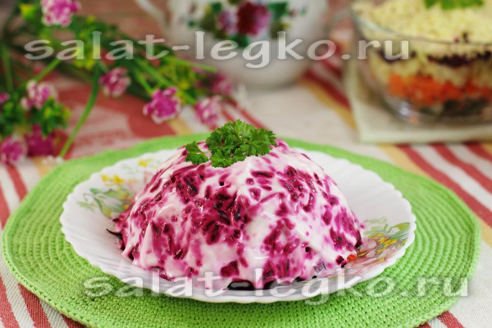 салат королевский с копченой рыбой рецепт шуба