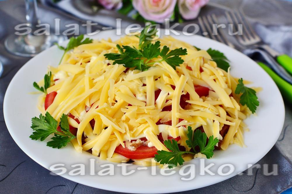 рецепт салата с мивиной и колбасой рецепт