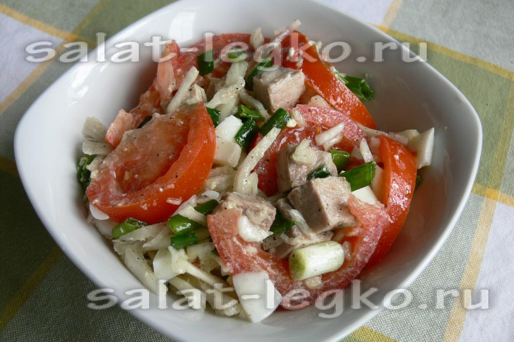 Рецепт салата из свинины рецепт с