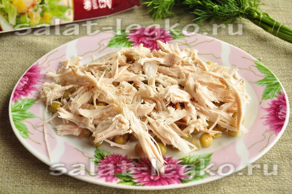 Салат нежность рецепт с огурцом и курицей нежность рецепт