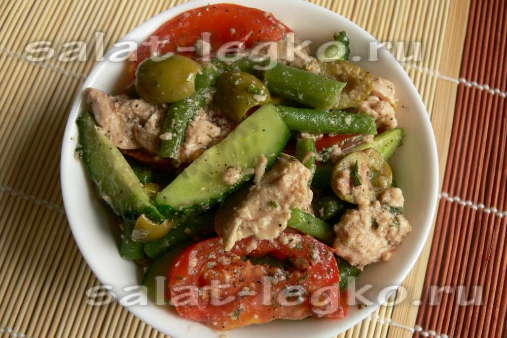 рецепт из салата из свежей трески