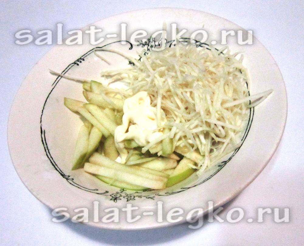 Салат с креветками и мандаринами новые фото