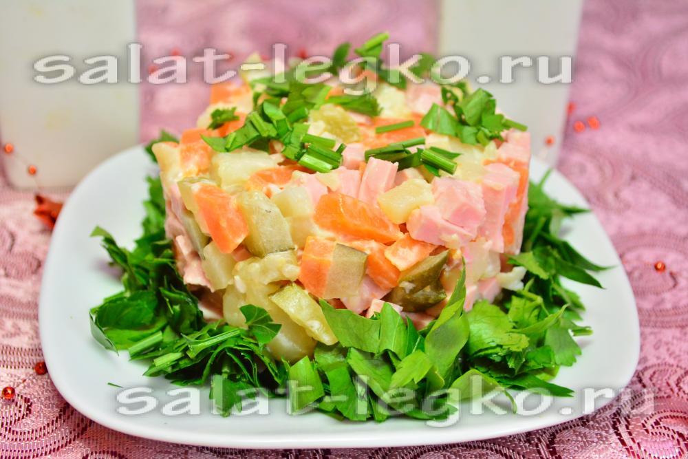 Королевский салат с ветчиной рецепт с