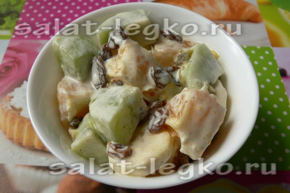 салат фруктовый с курицей рецепт
