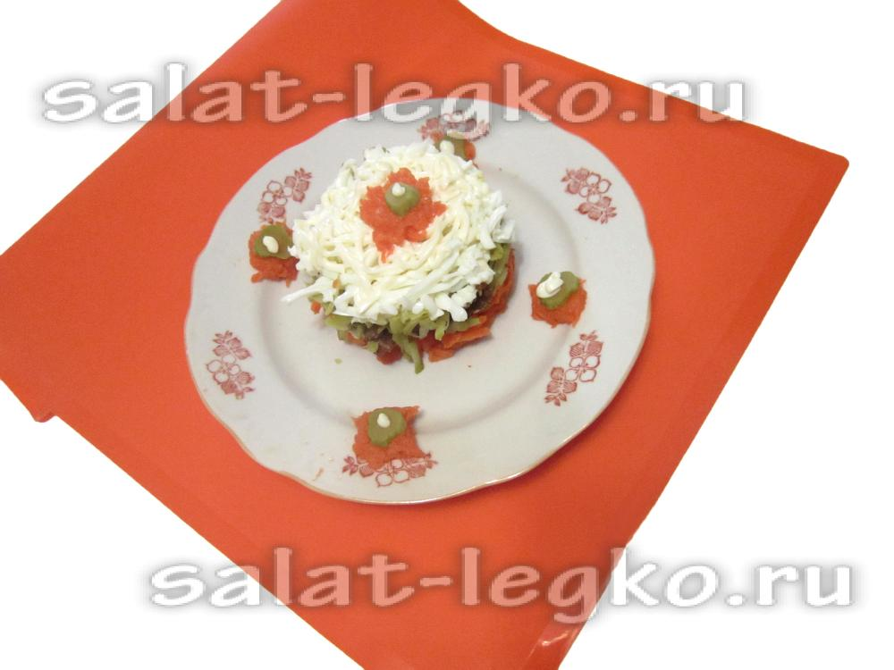 рецепты салата из морковки с мясом