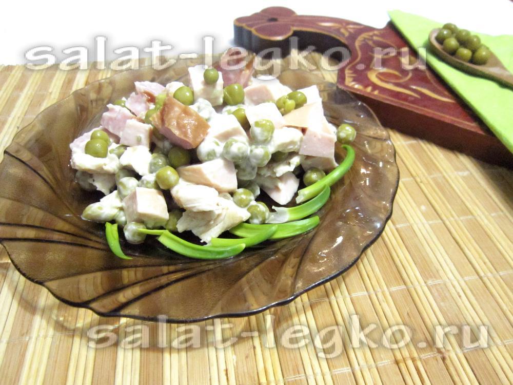 Салаты с зеленым горошком на день рождения рецепты с
