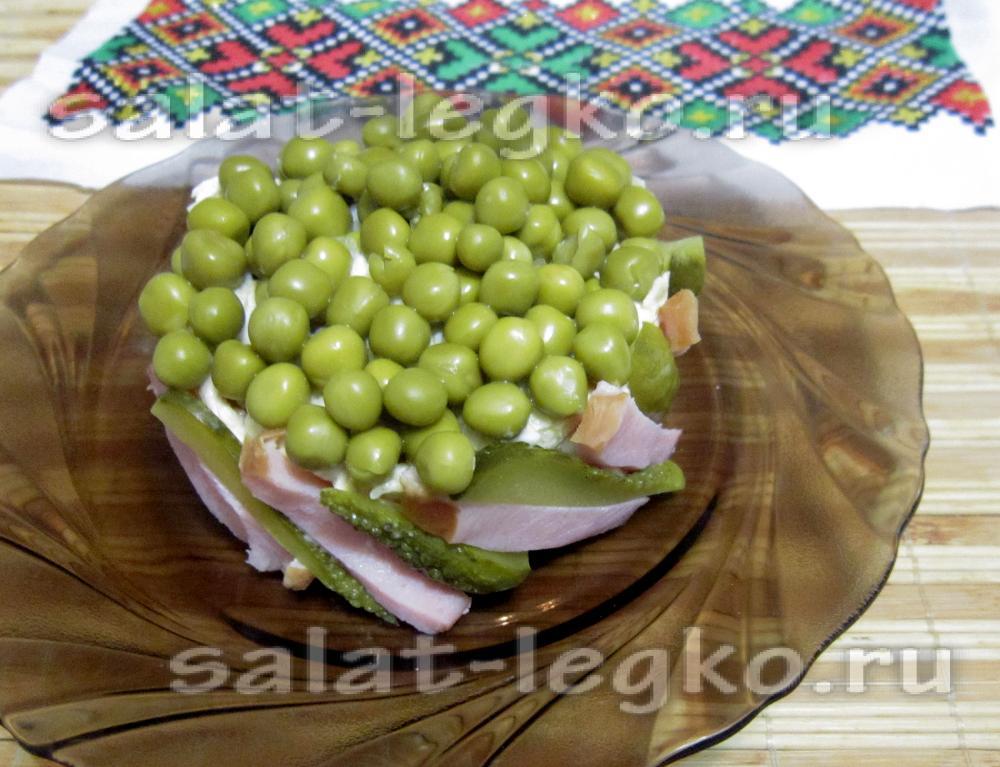 рецепт салата с кукурузой и ветчиной и грибами