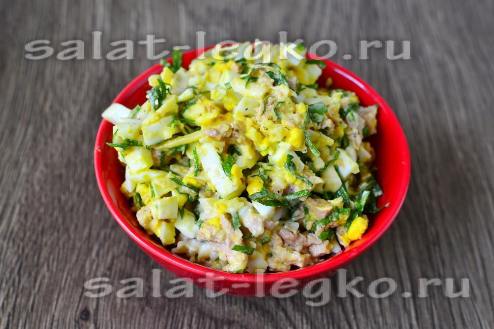 рецепты салатов из печени трески на день рождения