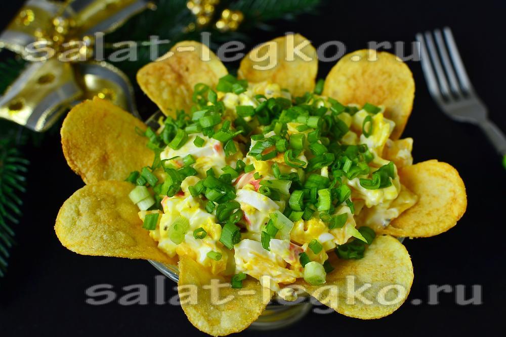 подсолнух салат рецепт с крабовыми палочками и