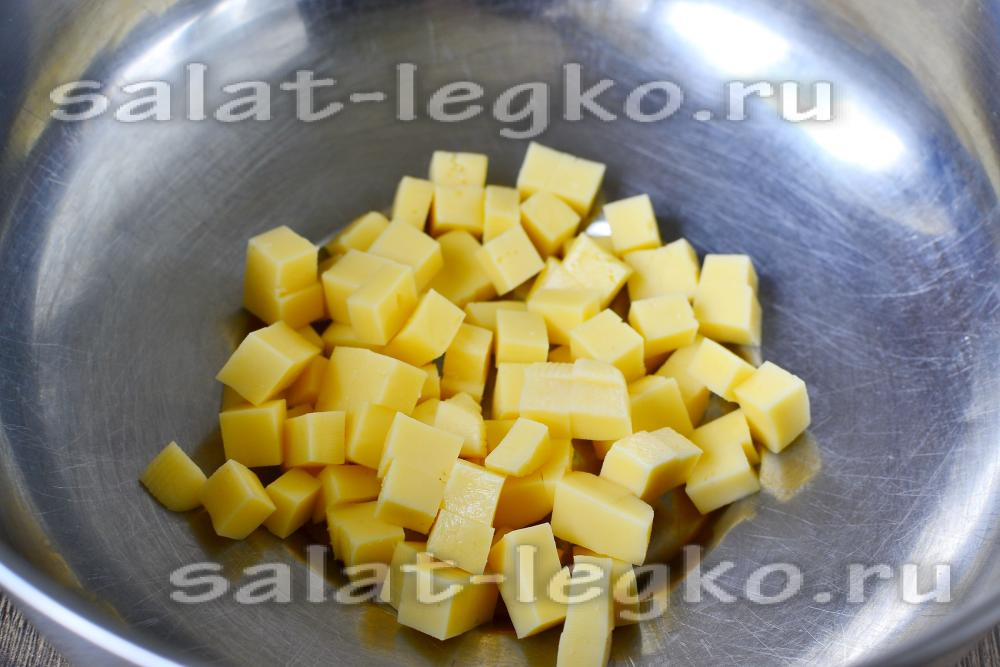 салат из курицы с ананасами пошаговый рецепт