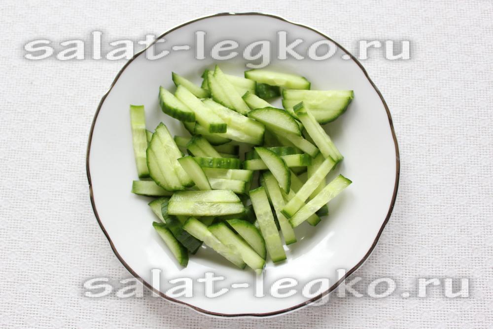 салат весенний рецепт с капустой и огурцом и