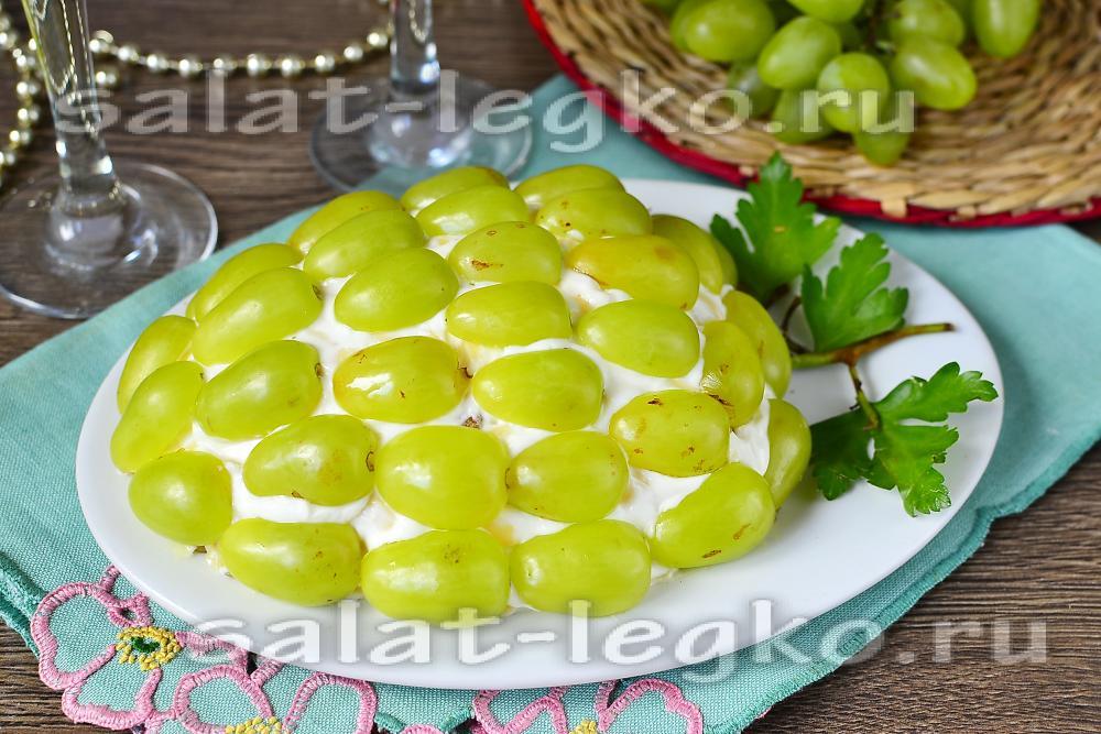 салат тиффани с курицей и ананасом рецепт с фото