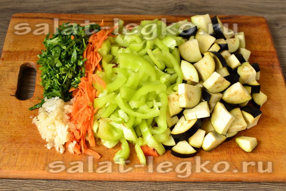 рецепты на зиму из баклажанов салат и перец