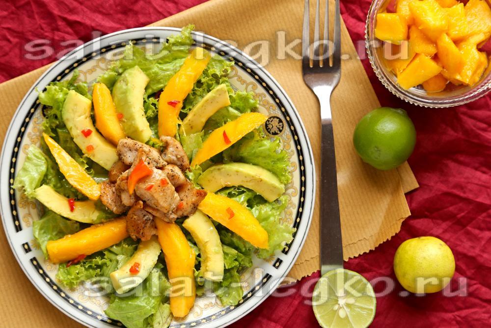 Салаты рецепты с манго авокадо фото