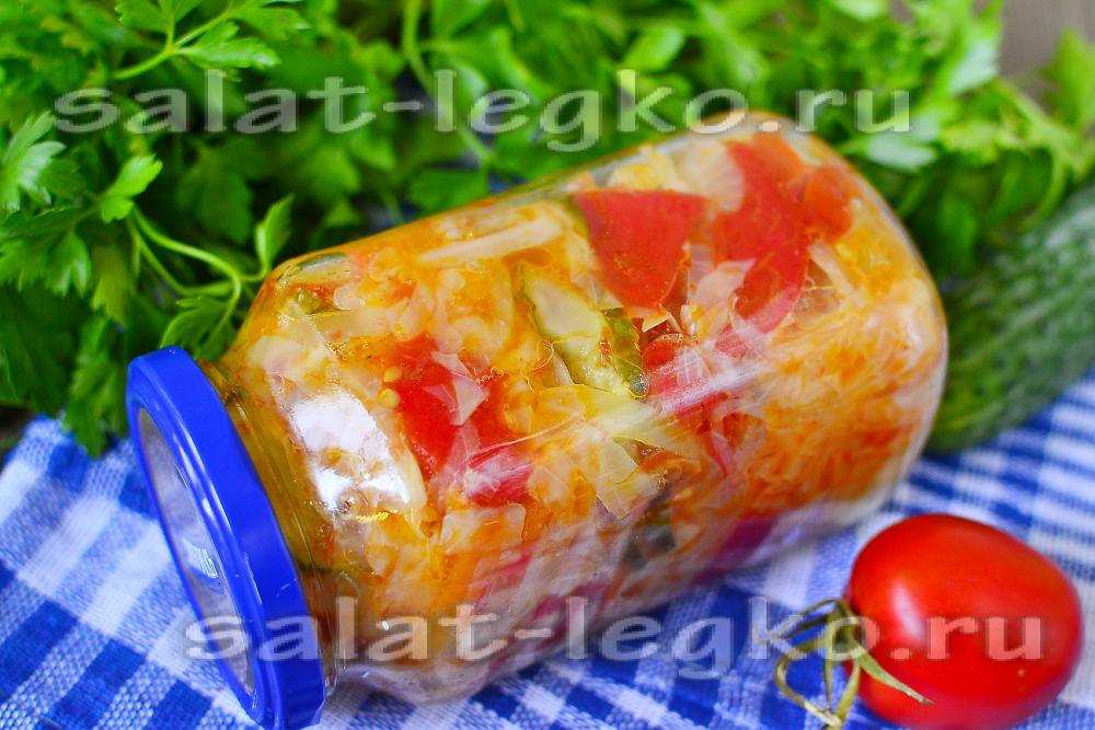салат охотничий рецепт с фото на зиму