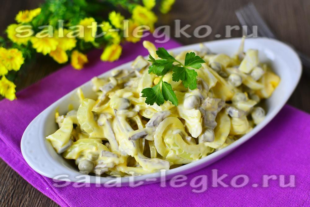 Салат из свиного сердца и огурцами рецепт