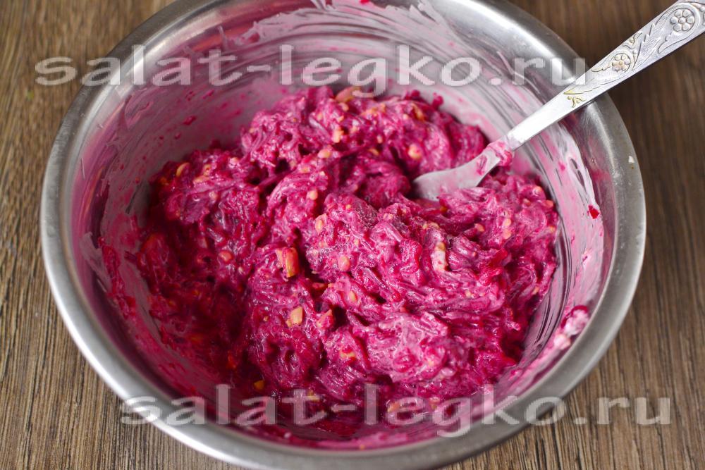 рецепты салатов со свеклой и кукурузой