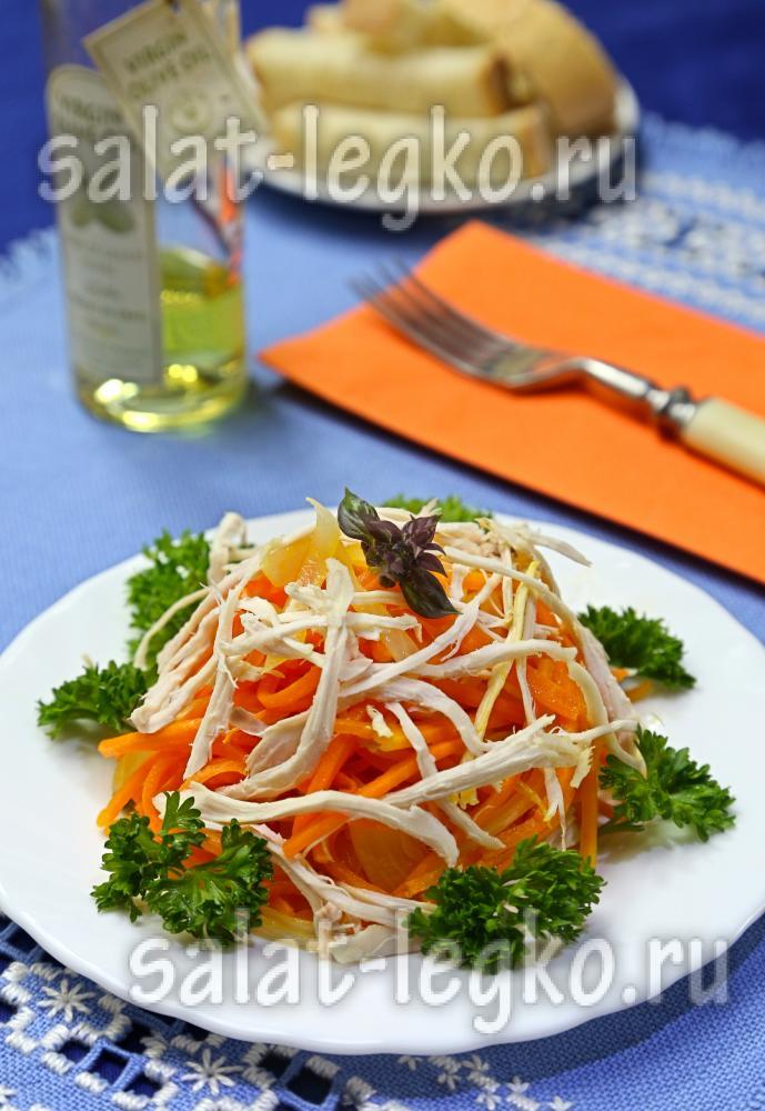 Рецепты салата из грибов и куриного филе и