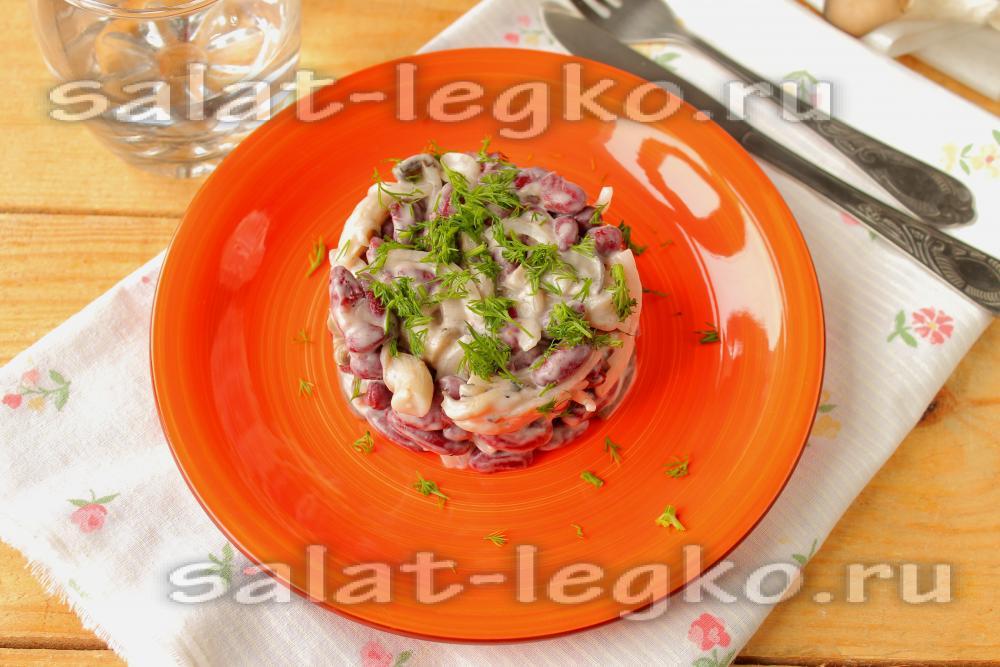 Рецепт салата с опятами маринованными 60