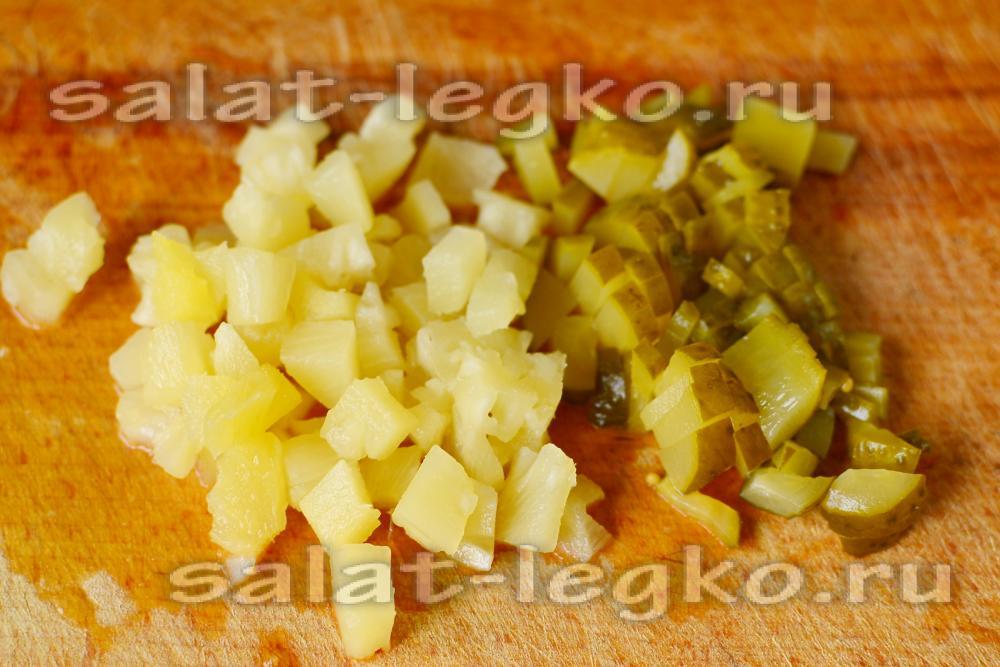 Салат из капусты ананаса кукурузы