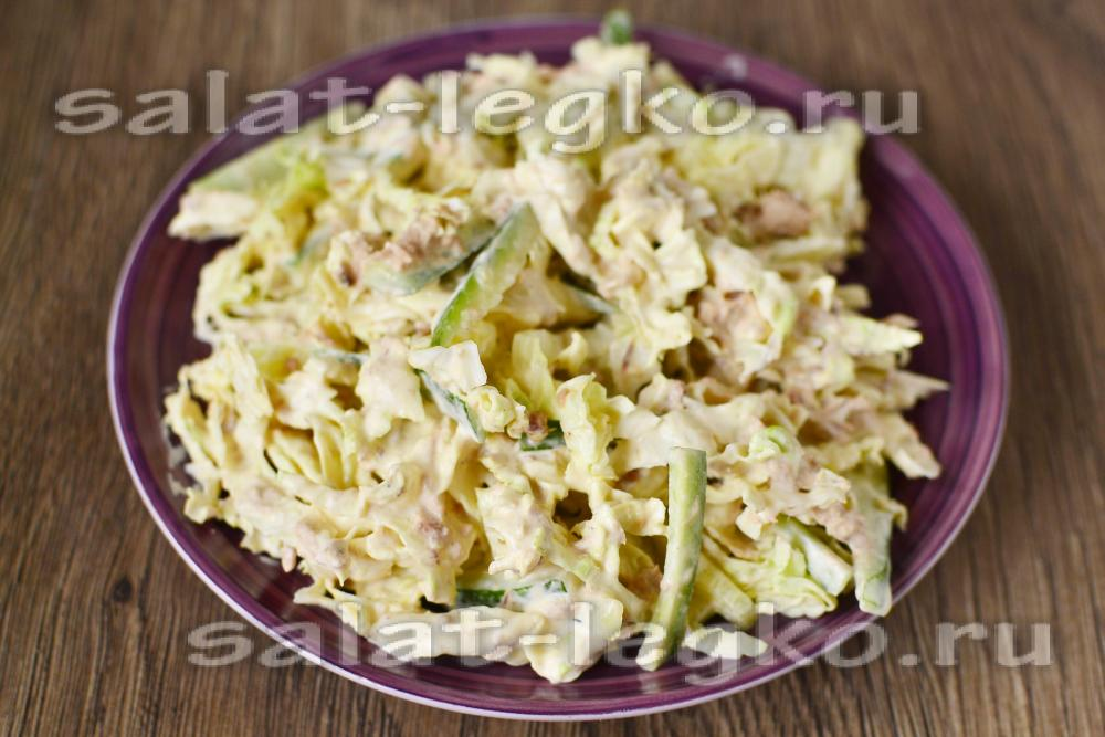 Салат из тунца консервированного и огурца рецепты с 179
