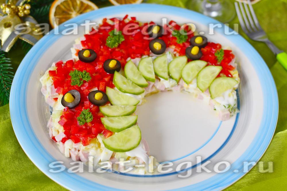 салат русская красавица рецепт с шампиньонами