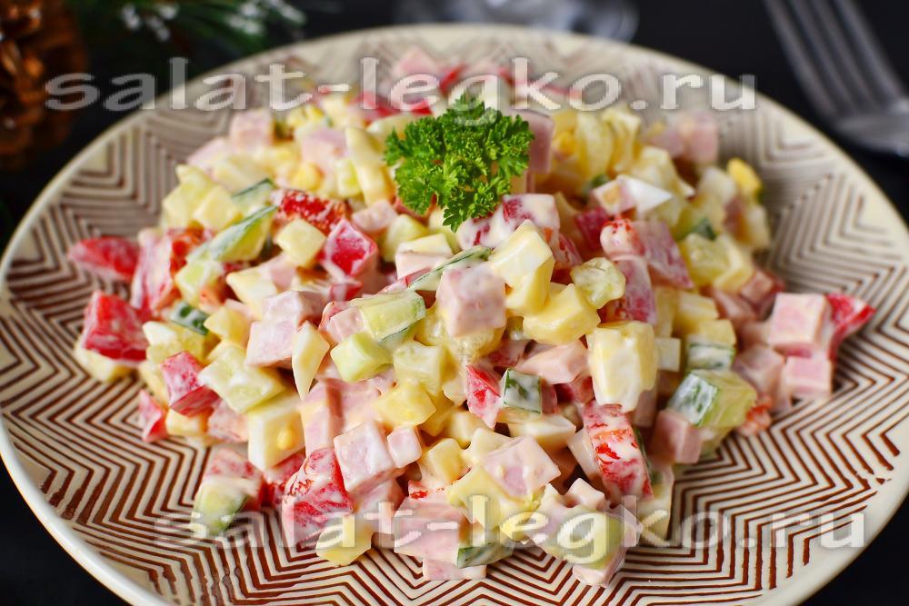 Рецепт салата с вареной колбасой с 182