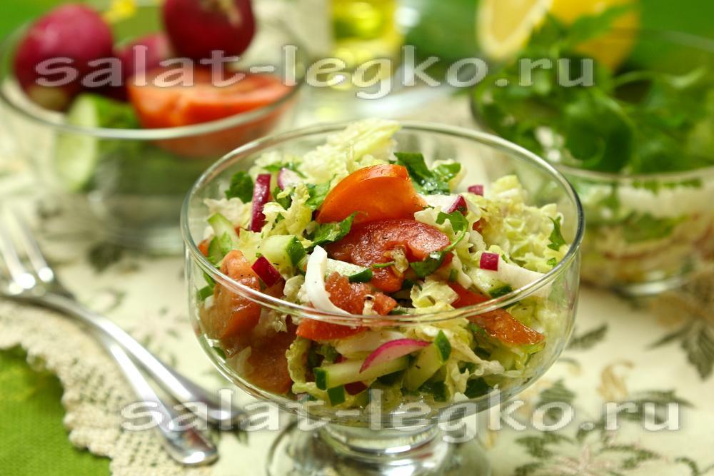 рецепт салата с кукурузой и пекинской капустой и