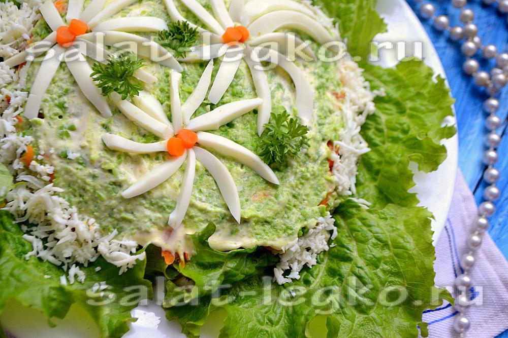 Салат ромашка рецепт с фото пошагово