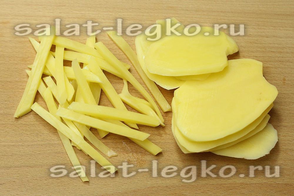 Как сделать картофель соломкой