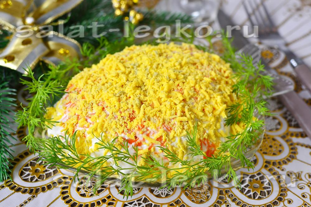 салат мимоза рецепт с рисом классический рецепт с фото