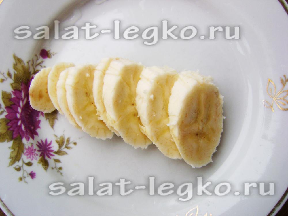 рецепт фруктового салата с йогуртом пошагово
