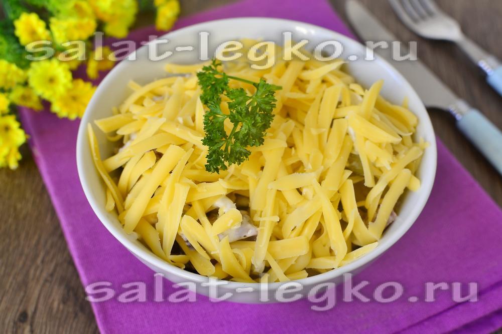 салат вкусный из языка
