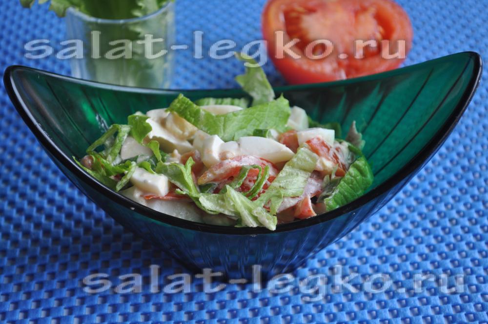 Салат на листьях салата рецепт с фото