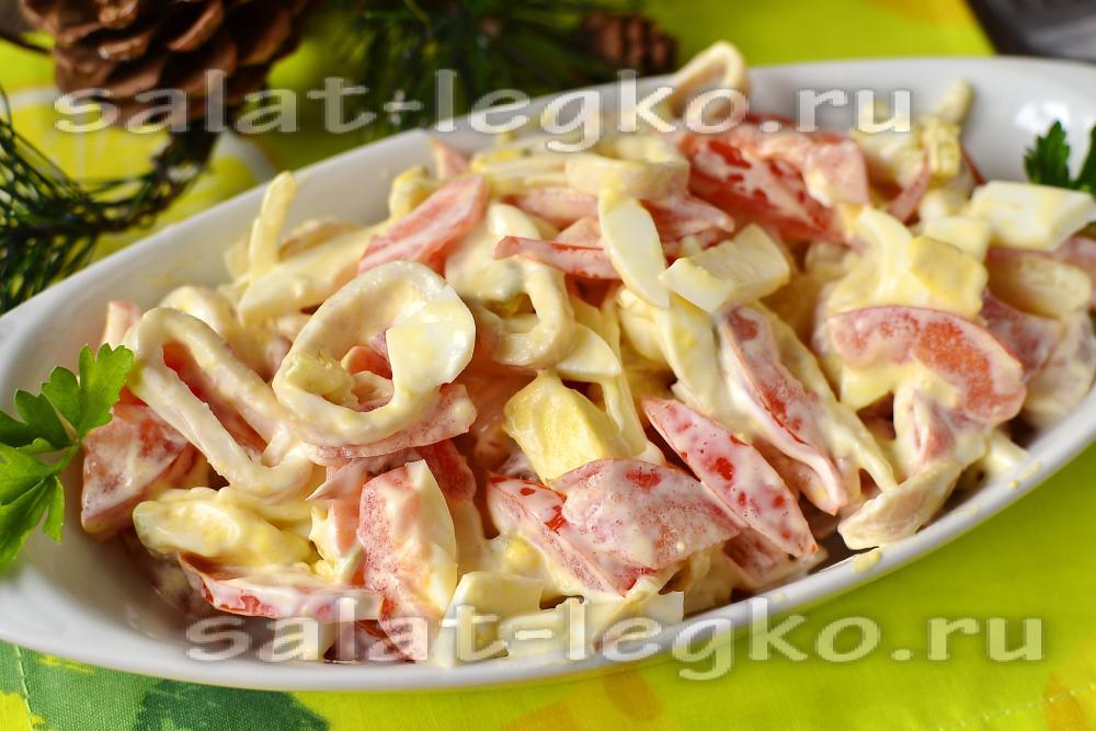 Салат с шампиньонами и помидорами рецепт очень вкусный с