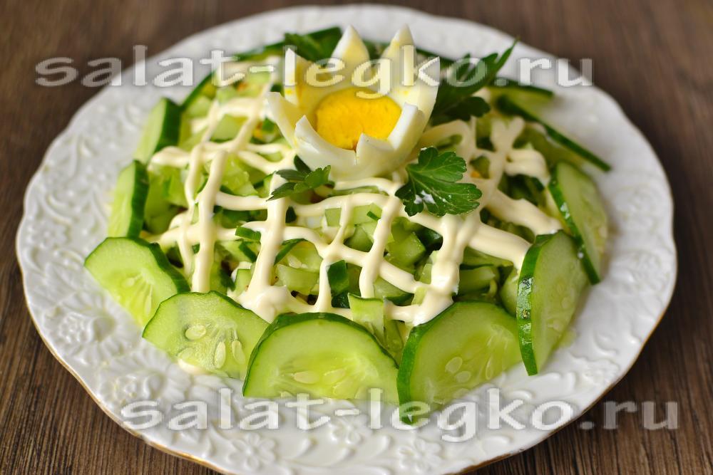 Нежный салат из огурцов