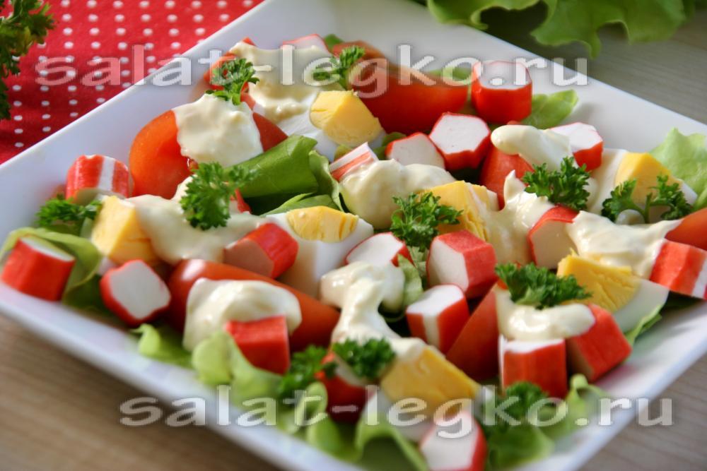 Салат турецкий рецепт с крабовыми палочками