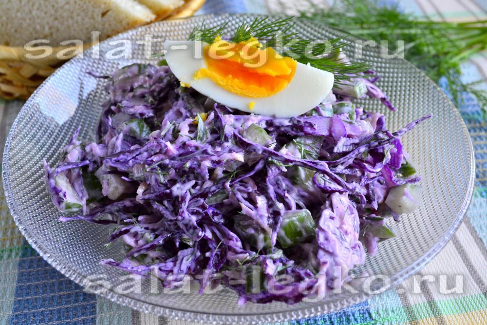 Салат из красной капусты с майонезом рецепт