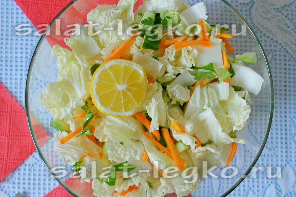 салат из пекинской капусты с маслом растительным