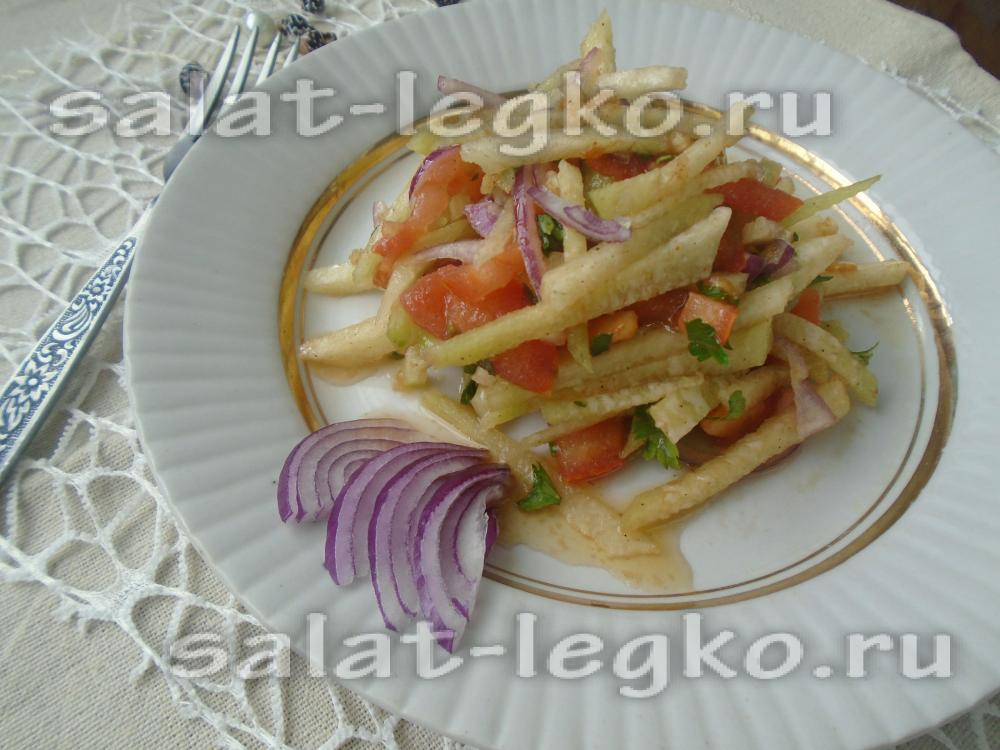 салат из редьки зеленой простой