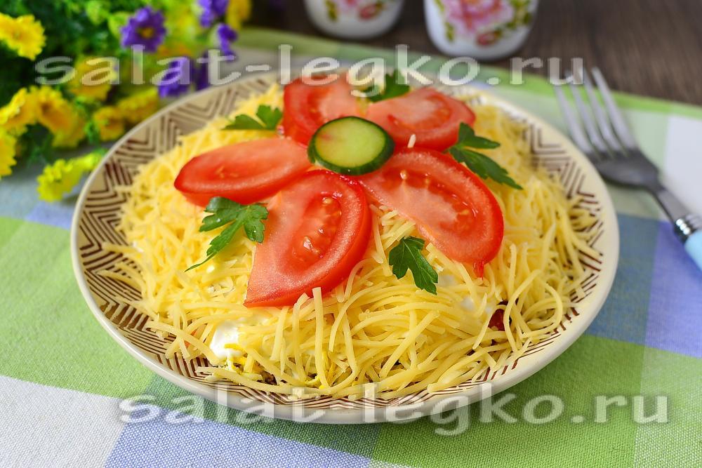 рецепты салатов из вареной колбасы