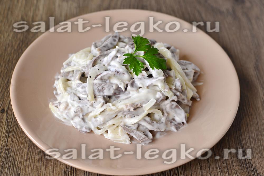 Простой салат со свининой рецепт с
