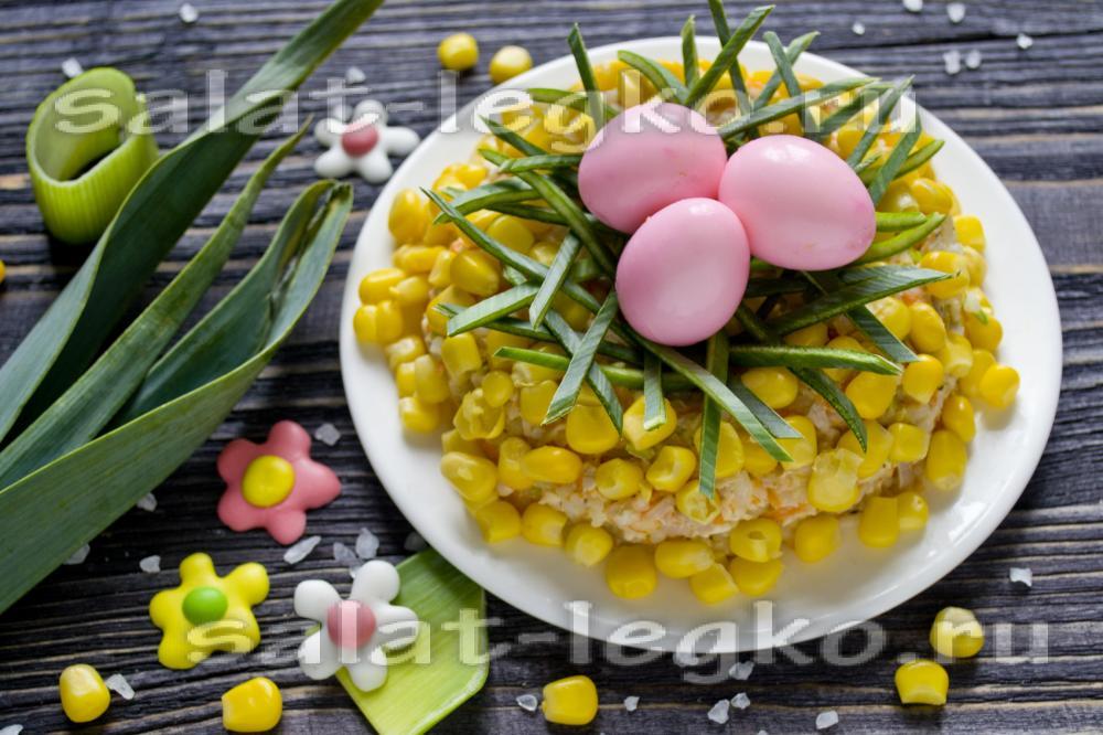 салаты с кукурузой рецепт